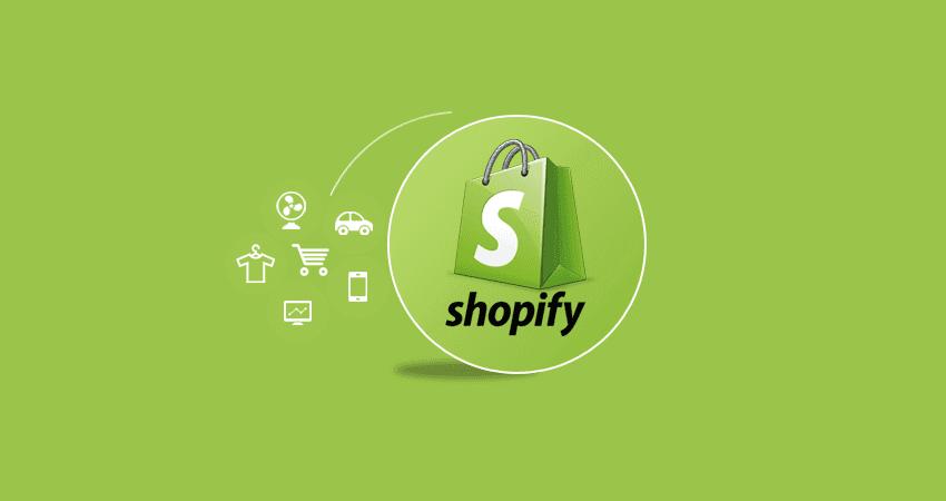 shopify e-commerce logo verde